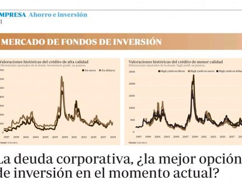 La deuda corporativa la mejor opción de inversión en el momento actual