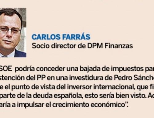 La bolsa española a la espera de los pactos