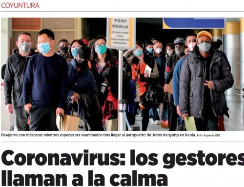 Coronavirus: Los gestores llaman a la calma