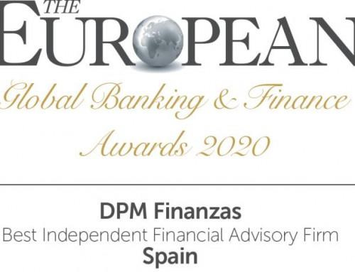 DPM Finanzas es elegida como la mejor empresa de asesoramiento financiero de España por The European
