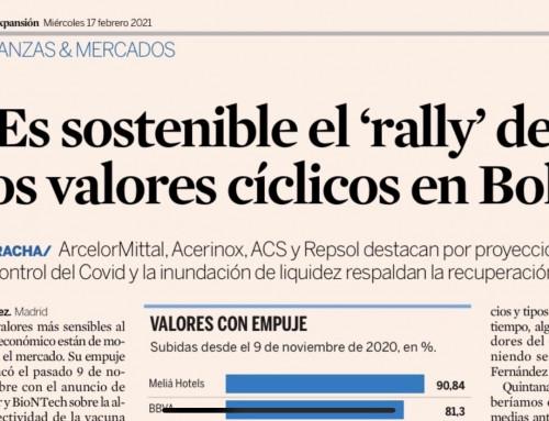 ¿Es sostenible el 'rally' de los valores cíclicos en Bolsa?
